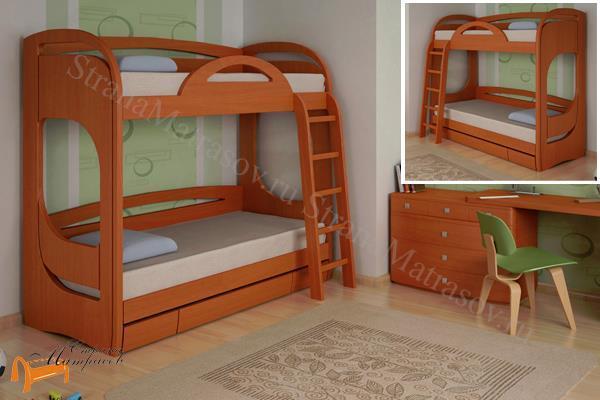 Торис -  Торис Кровать подростковая двухъярусная Миа 2 с ящиком