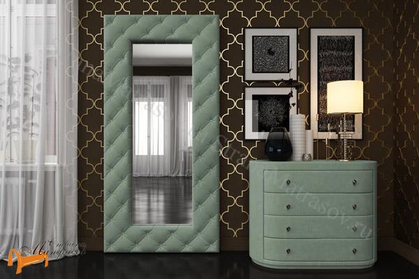 Verda Зеркало Luxe , велюр, экокожа, овальное