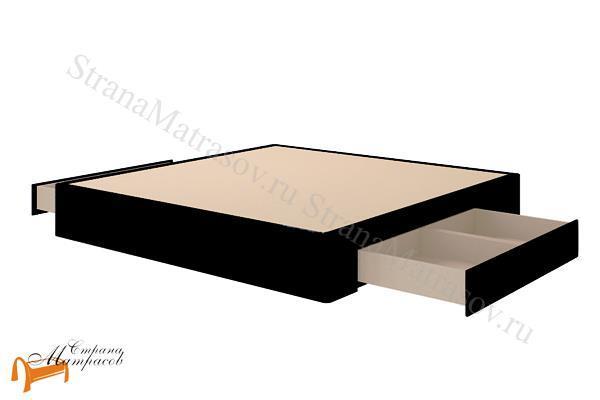 Verda Основание для кровати Podium c ящиками (55-55см) , сплошное, для спальной системы Верда, ткань велсофт, экокожа, подиум, ящик