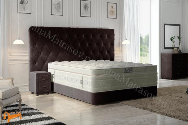 Verda Кровать Luxe с основанием Podium M , спальная система luxe, verda, island, шоколад, серый, белый, графит, черный, красный,