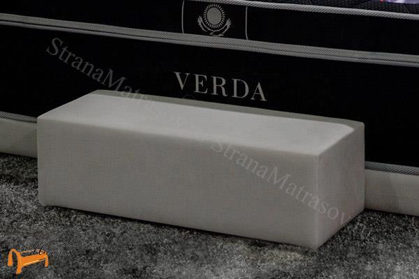 Verda  Прикроватная ступень Verda , спальная система Верда, пуф, пуфик, серый, белый, графит, черный