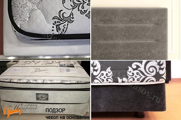 Verda Кровать Modern с основанием Island M , спальная система, шоколад, серый, белый, графит, черный, красный, зеленый