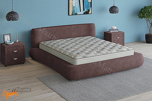 Verda Кровать Zephyr c основанием мультиламель , зефир ,шоколад, серый, белый, графит, марсала, бежевый, велсофт , софт