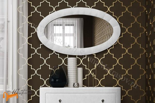 Verda Зеркало настенное Classic 68 х 119 см , велюр, экокожа, овальное