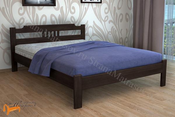 DreamLine Кровать Бельфор 1 с основанием , дерево, массив, основание